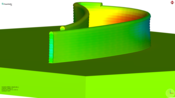 Courtesy of Fraunhofer IPK: Simulation of turbine outline - deformation