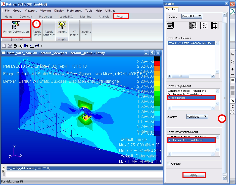 Plate With Hole Stress Analysis
